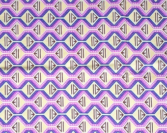 Purple fabric for 1 meter * pink and purple pattern *.