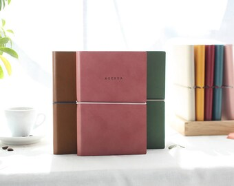 2018 Dated Monthly + Weekly planner in 5 colors (printed 'AGENDA' on the cover) -Dated planner