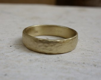 Men's Hammerd Wedding Band His and Hers Unique Gold Wedding Rings Gold band Wedding Band Fine Jewelry Square Wedding Ring Geometric band