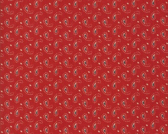 Moda ANNS ARBOR Quilt Fabric 1/2 Yard By Minick & Simpson - Red 14847 11