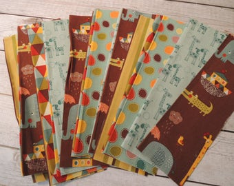 SALE, Fabric Grab Bag, All New Giraffe Crossing Fabrics, 20 pieces, Bag 96E