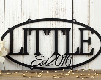 Family Established Metal Sign | Custom Sign | Family Last Name Sign | Family Name Sign | Established Sign | Metal Wall Art