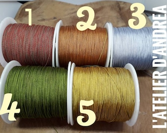 x 5 m of braided yarn, choose colors, 0.5 mm for jewelry making