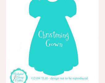 Christening Gown Cookie Cutter Baptism Cookie Cutter Dress Cookie Cutter Fondant Cutter Designed by Whisked Away Cutters