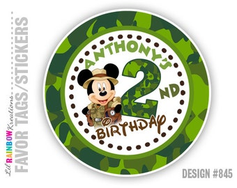 FVTAGS-845: Mickey Camo Tags or Stickers