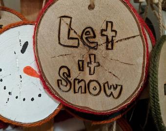 Christmas Tree Ornament (let it snow)