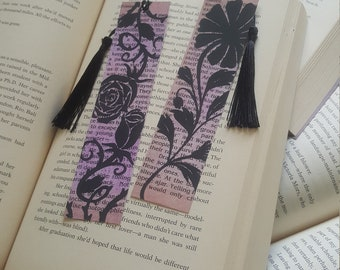Beautiful Handmade Flower Roses Thorns Bookmark