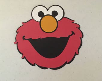 Elmo face die cut from Sesame Street