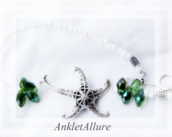 Anklet Ankle Bracelets STARFISH Anklet CRUISE Ankle Bracelets for Women Green