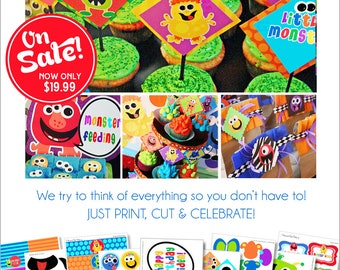 Monster Party | Monster Birthday | Monster Party Decorations | Monster Bash Party | Monster Printable | Amanda's Parties To Go