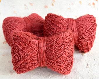 Hemp yarn in Red color