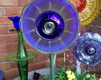 Sale!!! Disco Ball Glass Flower Art