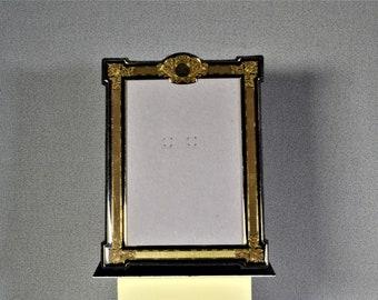 5x7 Art Deco Photo Frame Vintage Black and Gold