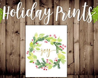 Joy Wreath Print