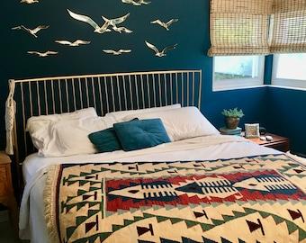 vintage 4 x 6 Kilim rug southwestern boho decor