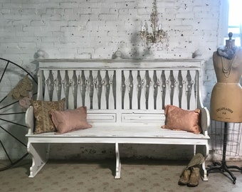 Painted Cottage Prairie Chic Bench