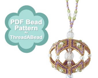 Bead Pattern: Crystal Reflections Beaded Ornament