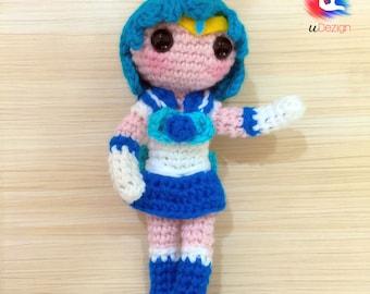 Sailor Mercury Amigurumi Pattern