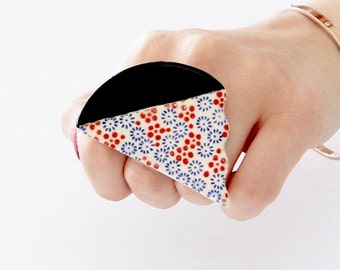 Cocktail Ring Ceramic Ring ,  big ring, boho ring, statement ring, handmade ring by Studioleanne, New Year Fashion