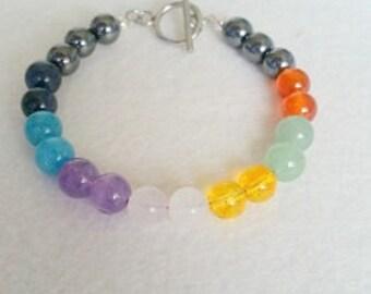 Healing Gemstone Bracelet with toggle clasp