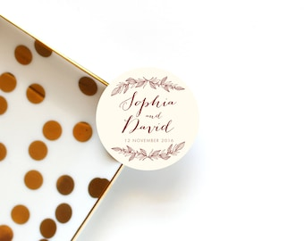 Wedding Favor Stickers, Wedding Favour Stickers, Custom Wedding Stickers, Invitation Stickers, Personalized Stickers, Set of 12 Stickers