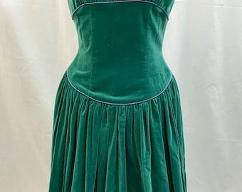 Early 1950's Vintage Velvet Dress