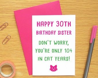 Mothers day cat card mothers day card printable mothers day 30th birthday card sister funny sister birthday card cat funny cat birthday card funny birthday card sister 30th birthday card funny m4hsunfo