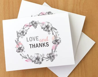 Love and Thanks card