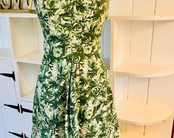 Vintage Summer Green Dress