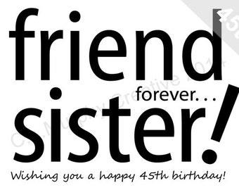 Download 60th birthday turning 60 happy birthday friend download sister 45th birthday sister birthday turning 45 milestone birthday 45th bookmarktalkfo Choice Image