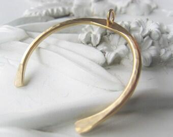 Gold Squash Blossom Gold U Bar Pendant Hammered Brass Pendant Item No. Indian 9334SO