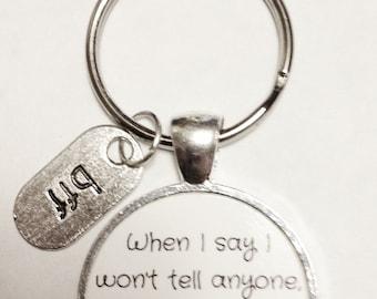 Best Friend Gift, Best Friend Keychain, My Best Friend Doesn't Count, BFF Gift Keychain