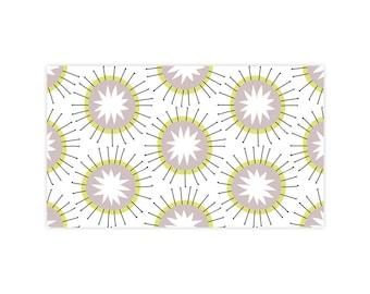 Moroccan Sun - Little Notes - Set of 10 Enclosure Cards, Envelopes, Gold Closure Stickers - Florals - Starburst - Pattern - (LN404)