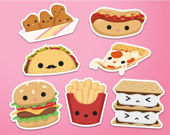 Kawaii Foods Stickers