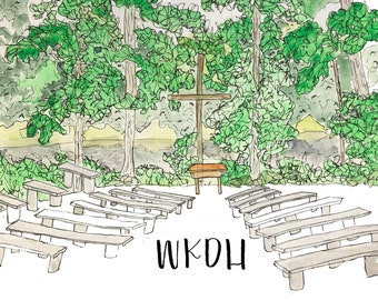 Camp WKDH Watercolor Print