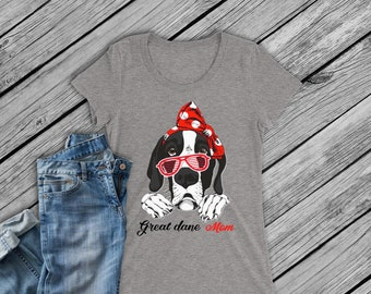 Digital file -SVG and DXF  Great Dane with Headband -Great Dane with a Cap and Plain
