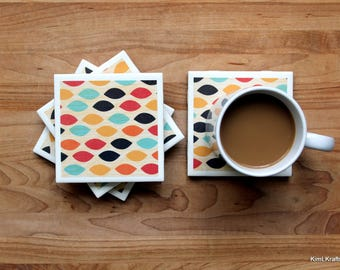 Coasters for Drinks - Coasters Tile - Fall Coasters - Handmade Coasters - Coasters - Drink Coasters - Tile Coasters - Ceramic Coasters