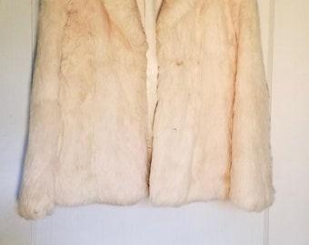 Vintage White Rabbit Coat