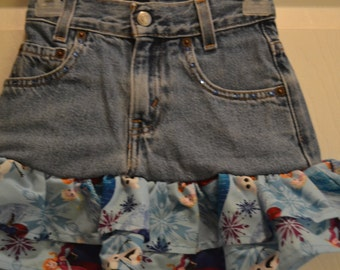 Frozen Upcycled Jean Skirt