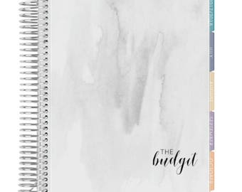 Gray Watercolor Budget Notebook Cover
