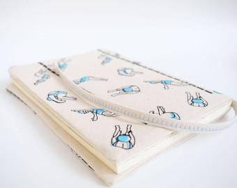 A5  sketchbook,  notebook, diary, Travel journal, gift for swimmer, journal diary, Sketchbook, swimming, pool, screen print,  journal