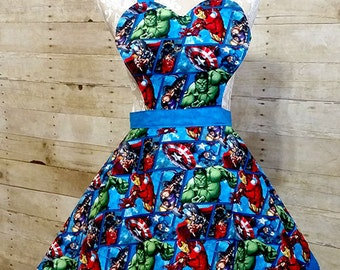 Old fashioned Superhero Kitchen Apron