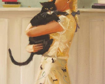 Cat And Mouse. Art Print