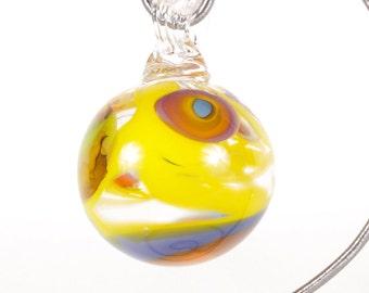 110298 Medium Hand Blown Hanging Art Glass Ball Decorative Ornament