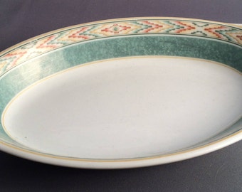 Wedgwood Aztec Home Oval Eared Entree Serving Dish.