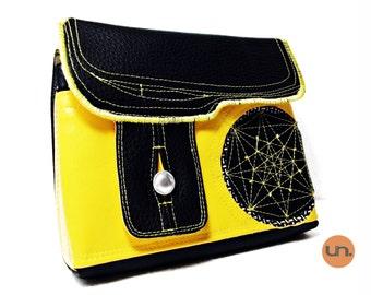 Octagram, Handmade Personalized Waist Bag, Vegan Friendly, Vegan Leather Hip Bag, Festival Bag, Fanny Pack, Bum Bag, UNUSUAL