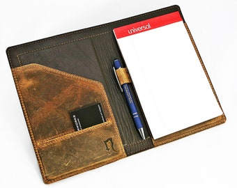 Leather Notepad Holder, 5x8