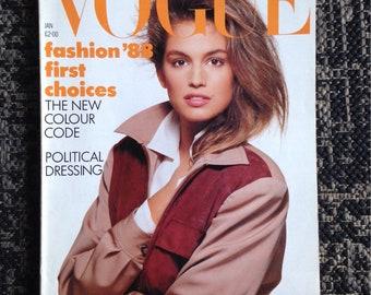 Vogue uk jan 1988 crawford cover
