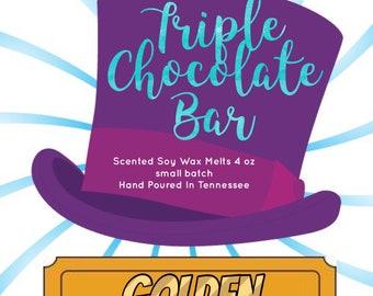 Wonka Wax Melts - Chocolate Wax Melts - Scented Soy Tart - Soy Wax Melts - Golden Ticket - Wax Tarts - Tart Melts - Melts - Candle Melts -