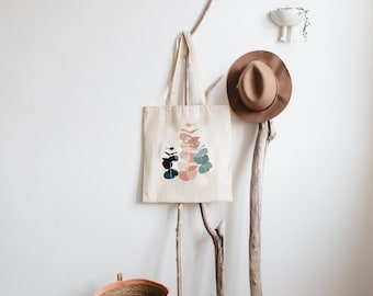 "Tote bag ""EUCALYPTUS"" 100% cotton - cotton bag with eucalyptus - shopping bag"